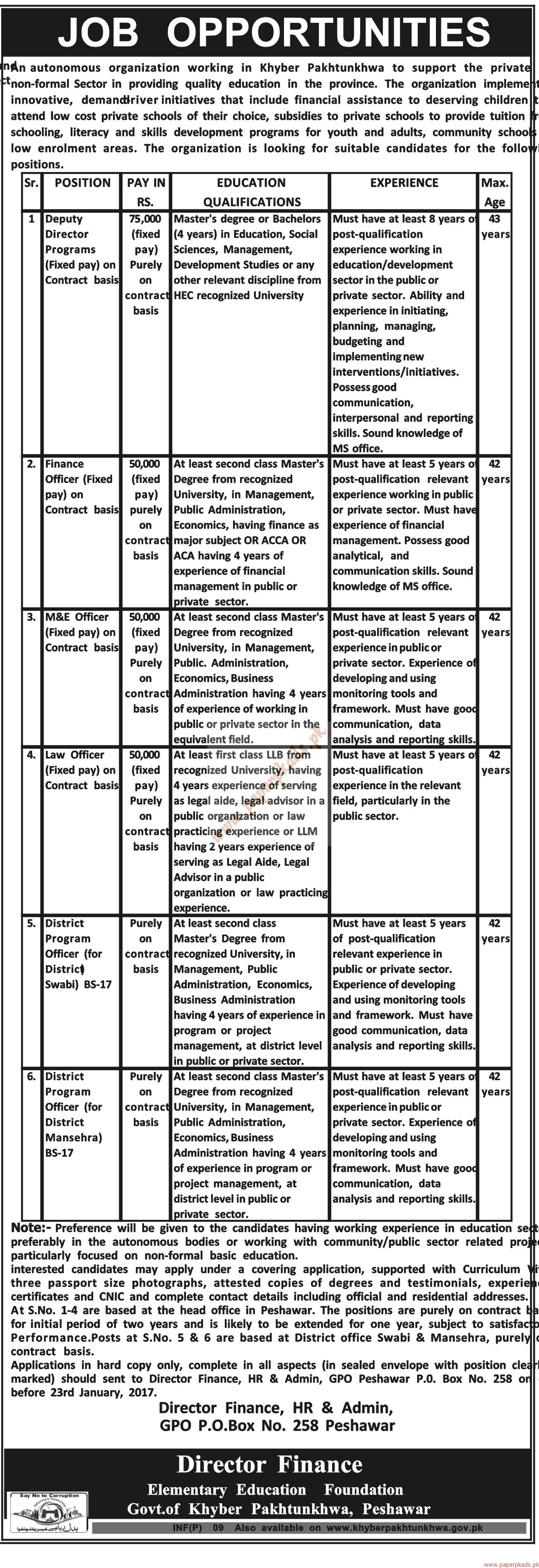 Autonomous Organization Jobs - Mashriq Jobs ads 04 January 2017