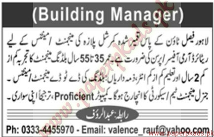 Building Managers Jobs