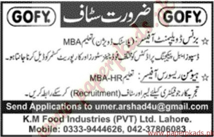 Business Development Officers and Human Resource Officers Jobs - Jang Jobs ads 01 January 2017