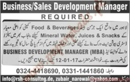 Business & Sales Development Managers Jobs