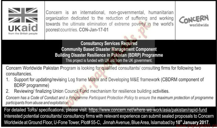 Concern is an International non-governmental Humanitarian Organization Jobs - The News Jobs ads 01 January 2017