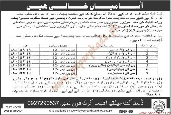 District Health Officers Jobs - The News Jobs ads 05 January 2017