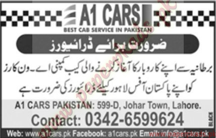 Drivers Required for Lahore