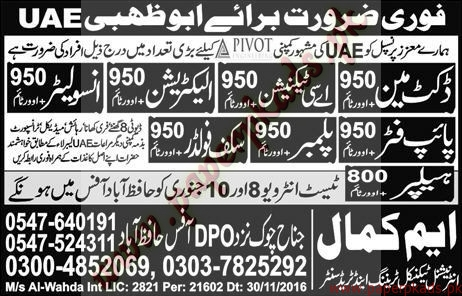 Ductman AC Technicians Electricians Insulators Plumbers & Helpers Jobs