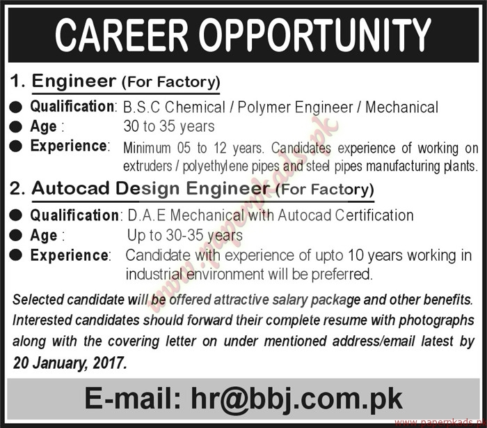 Engineers and AutoCad Design Engineers Jobs