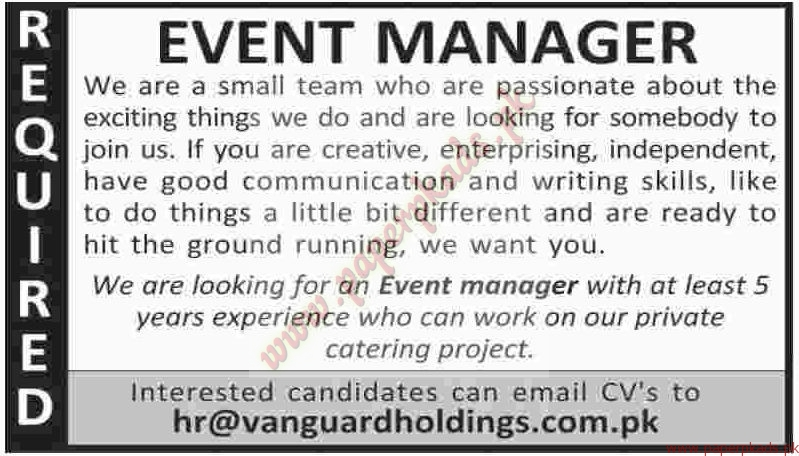 Event Managers Jobs