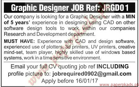 Graphic Designers Required