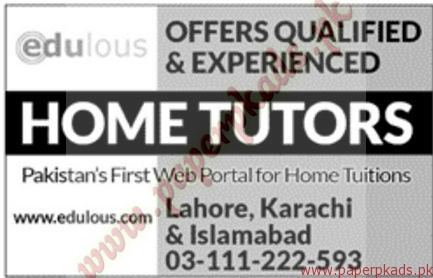 Home Tutors Jobs