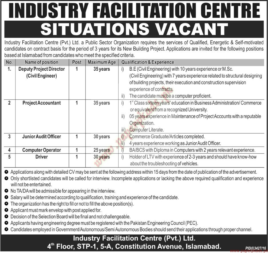 Industry Facilitation Centre Jobs