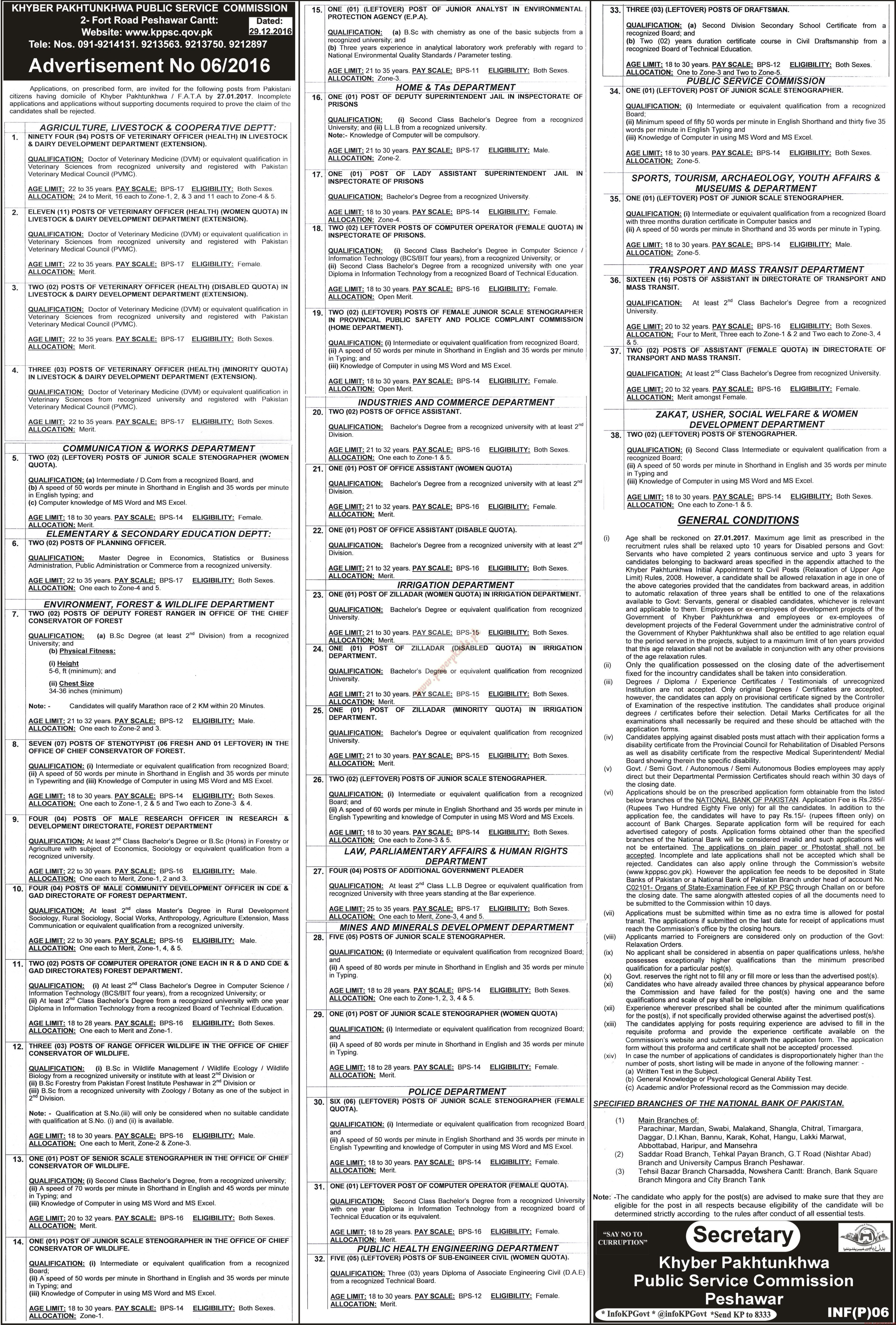 Khyber Pakhtunkhwa Public Service Commission Jobs