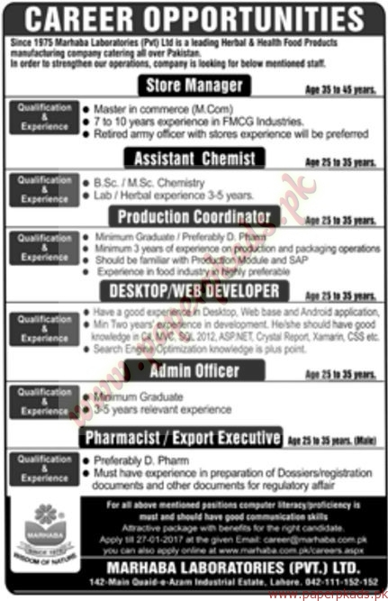 marhaba private ltd jobs