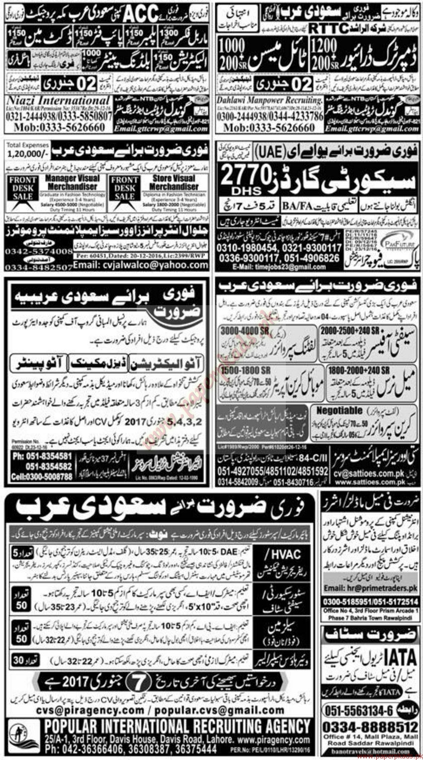 Multiple Jobs - Part 3 - Express Jobs ads 01 January 2017