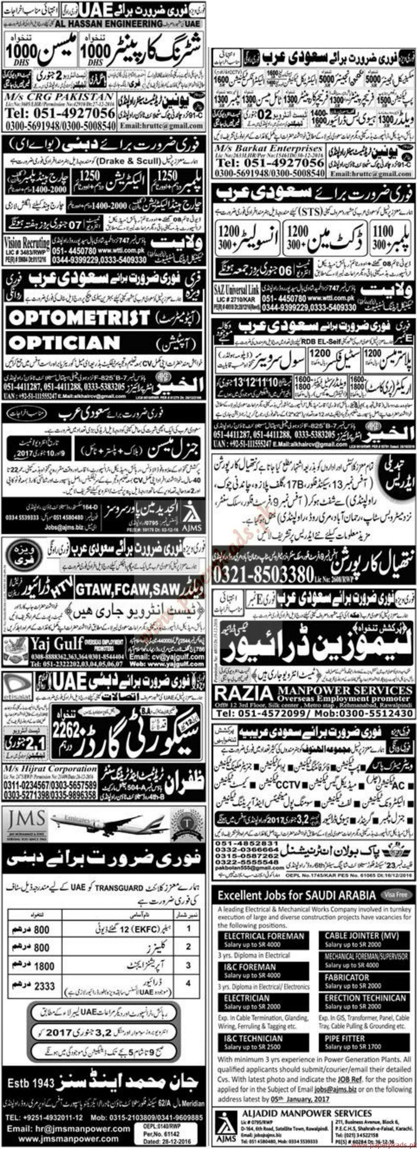Multiple Jobs - Part 4 - Express Jobs ads 01 January 2017