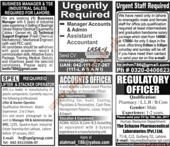 Multiple Jobs - Part 5 - Jang Jobs ads 01 January 2017