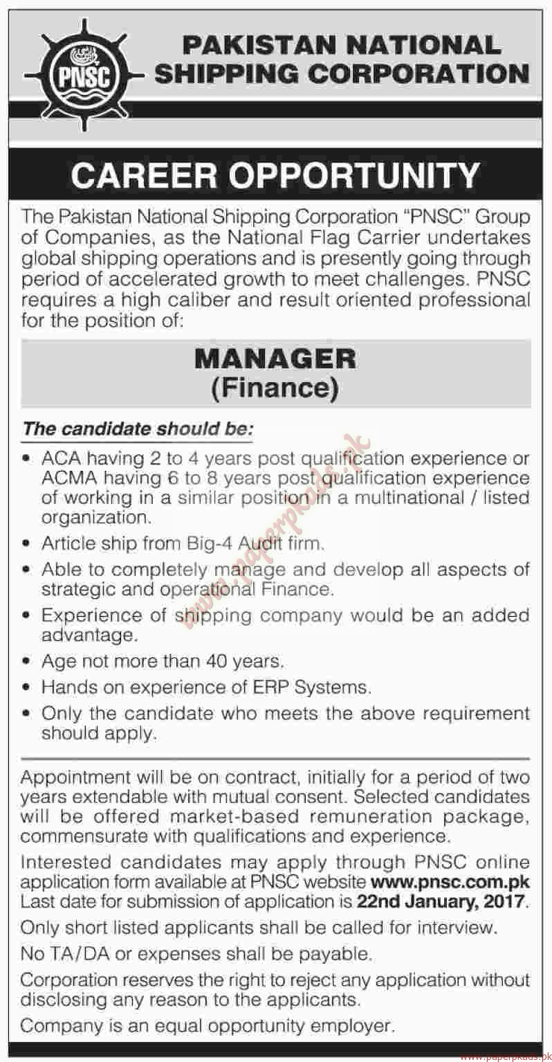 Pakistan National Shipping Corporation Jobs