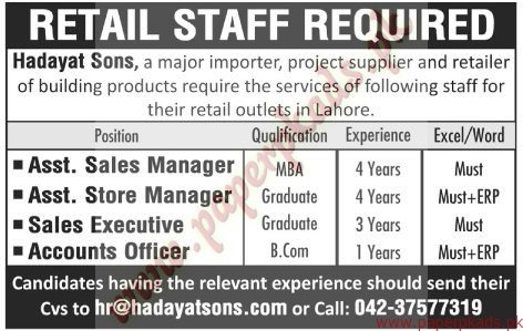 Retail Staff Required - The News Jobs ads 01 January 2017