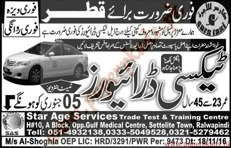 Taxi Drivers Required for QATAR - Express Jobs ads 04 January 2017