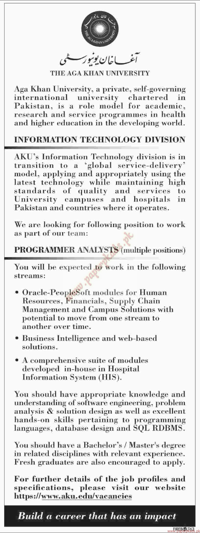 The AGA Khan University Jobs