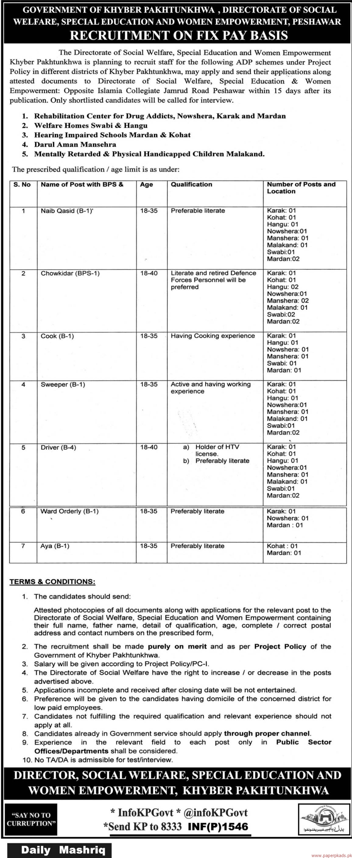 social welfare special education and women empowerment department social welfare special education and women empowerment department jobs 2