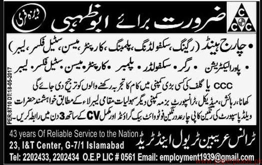 Charghand Riggers Skaffolders and Other Jobs in Abu Dhabi