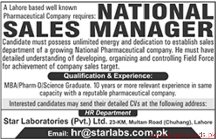 National Sales Managers Required