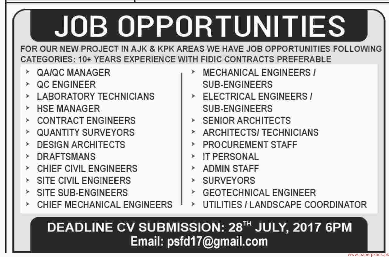 QA QC Manager QC Engineers Draftsman and Other Jobs - PaperPk