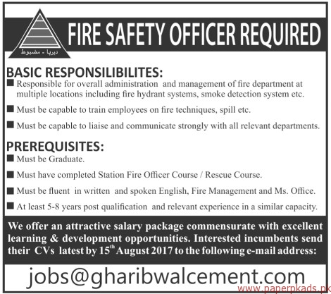 Fire Safety Officers Required