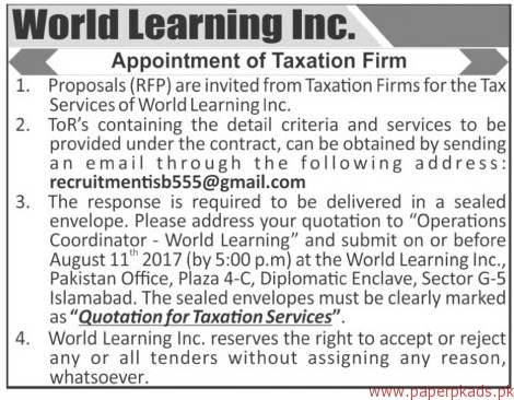 Jobs in World Learning Inc