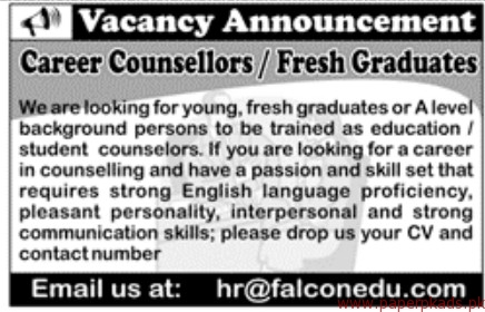 Career Counsellors Required
