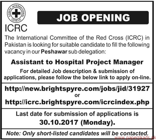ICRC The International Committee of the Red Cross Jobs 2017