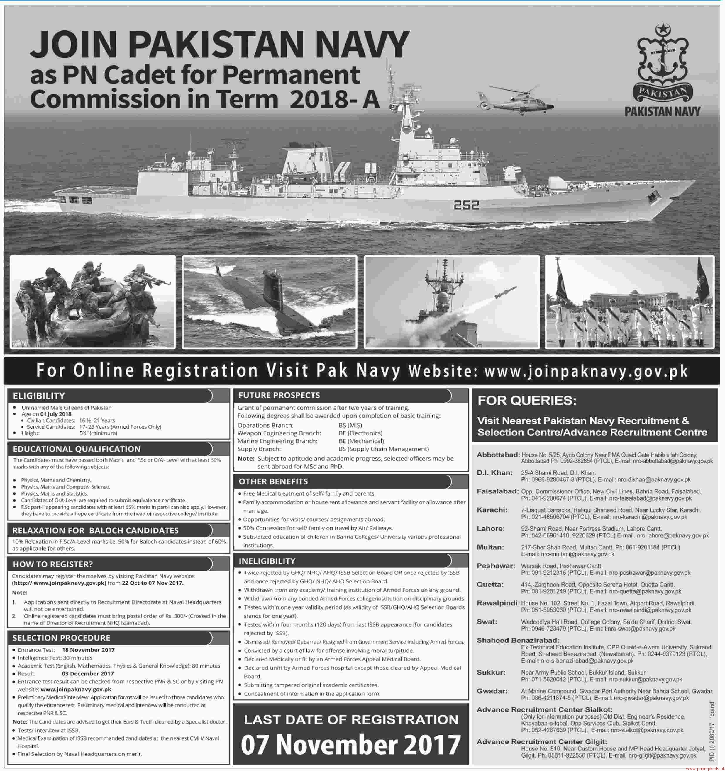 Join Pakistan Navy Jobs 2017