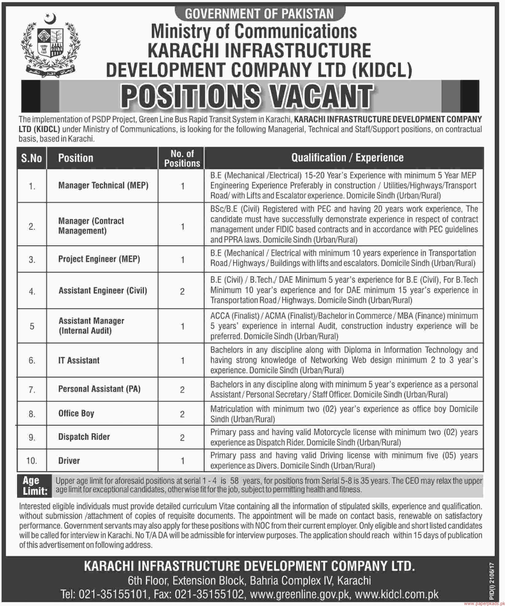 Ministry of Communication Jobs 2017