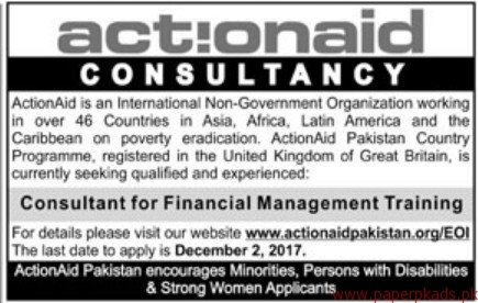 ActionAid International Non-Government Organization Jobs 2017