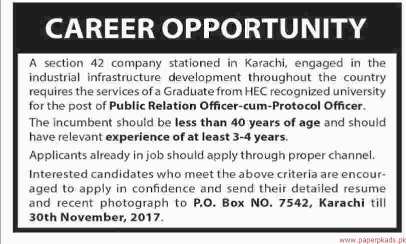 Public Relation Officer Sum Protocol Officer Jobs