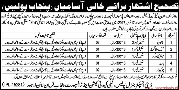 Sanitary Workers Chowkidar Cook and Other Jobs
