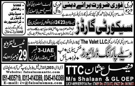 Security Guards Jobs in Dubai