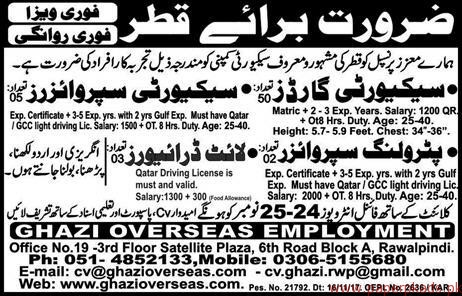 Security Guards Security Supervisors And Drivers Jobs In Qatar