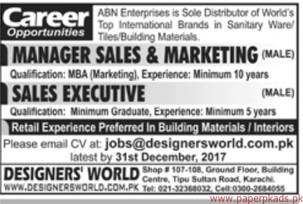 ABN Enterprises Jobs 2017