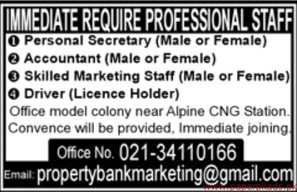 Immediate Required Professional Staff 2017