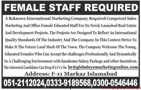 International Marketing Company Jobs 2017