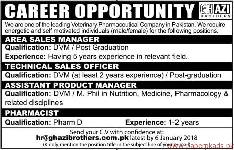 Leading Veterinary Pharmaceutical company Jobs 2017
