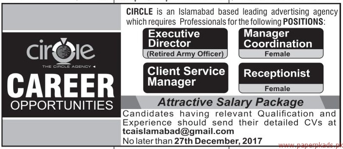 The Circle Agency Jobs 2017
