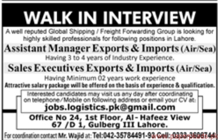 Assistant Managers and Sales Executives Jobs