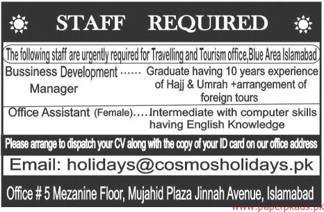 Business Development Managers And Office Assistant Jobs 2018