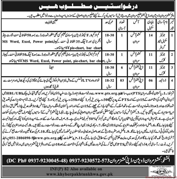 Junior Scale Stenographers Junior Clerks and Drivers Jobs