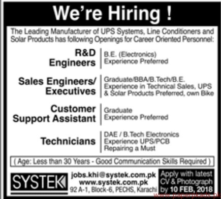 Leading Manufacturer of UPS Systems Jobs 2018