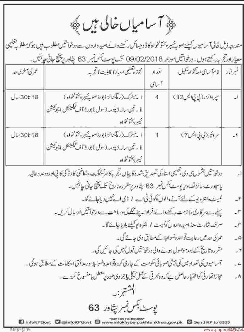 Supervisors and Surveyors Jobs 2018