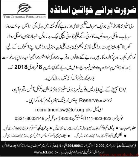 The Citizens Foundation Jobs 2018