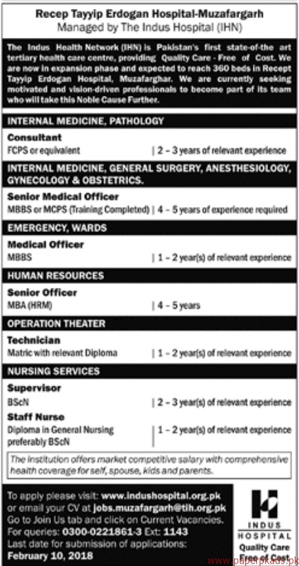 The Indus Health Network Jobs 2018
