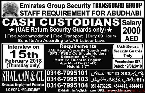 Emirates Group Security Jobs 2018